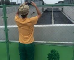 友達にふいに撮られた写真:帽子被ってて良かった