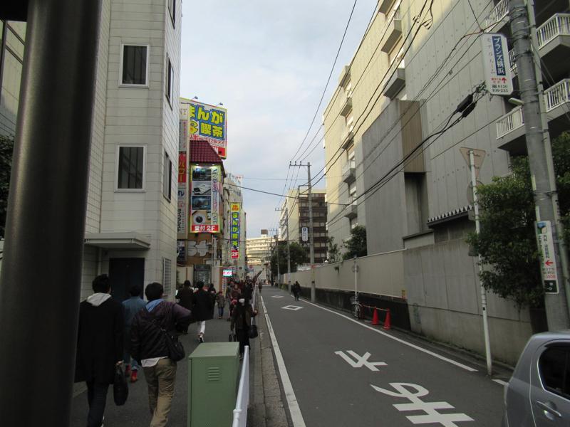 AGAスキンクリニック横浜へ行く道