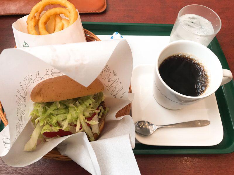 ハンバーガー・モスバーガーオニポテセット