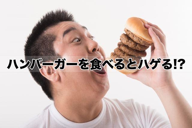 ハンバーガーを食べるとハゲる!?